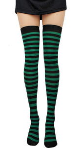 StripeSocks1911-GreenBlack