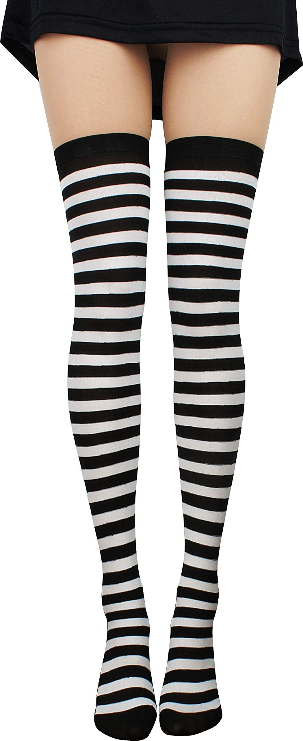 StripeSocks1911-Black