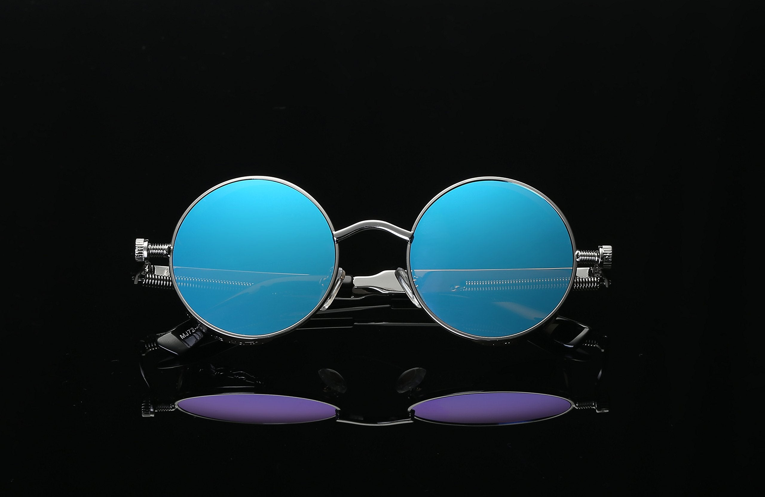 Vintage Hippie Retro Metal Round Circle Frame Sunglasses