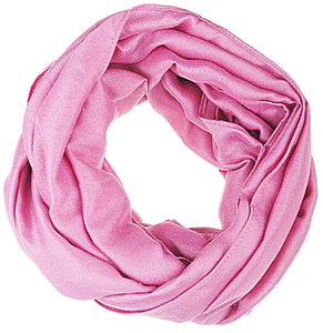 Premium Soft Light Weight Elegant Solid Color Satin Infinity Scarf