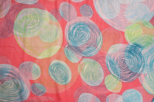 Soft Light Weight Various Print Sheer Infinity loop circle Scarf