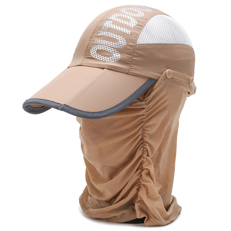 Unisex Baseball Cap UPF 50 with Face Covering