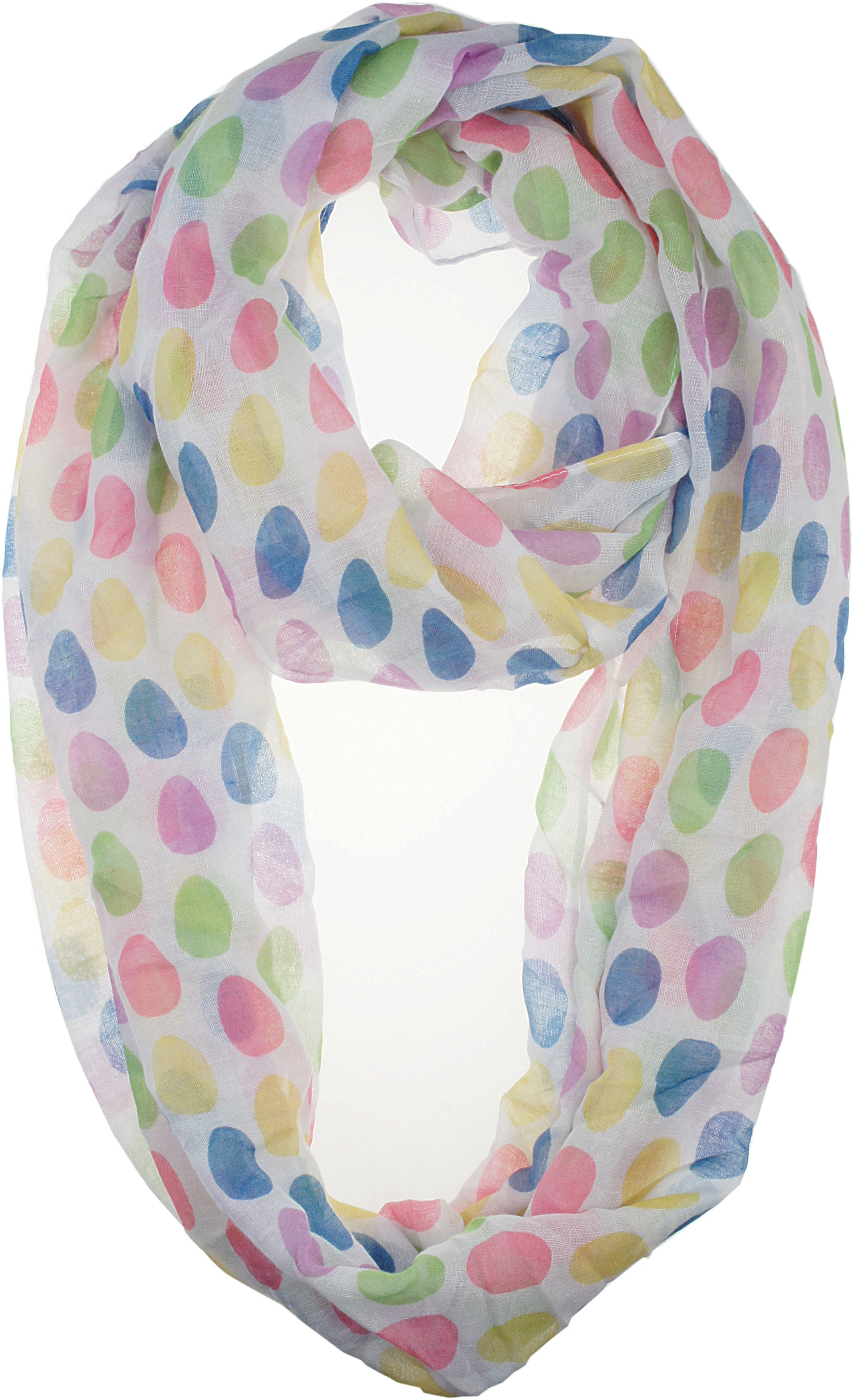 Soft Light Weight Easter Festival Sheer Infinity Scarf
