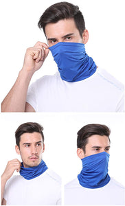2 Pack of Multi-Purpose Scarf Neckerchief Outdoor Headwear Bandana