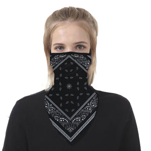 2pcs Earloops Balaclava Face Scarf Neck Gaiters for Dust Wind Motorcycle
