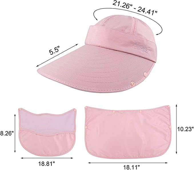 Women's Outdoor Summer Hat with UPF50+ Sun Visor