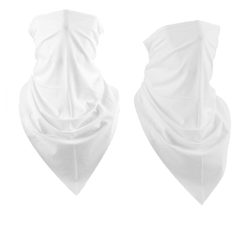 2 Pack of Multi-Purpose Triangle Scarf Neckerchief Outdoor Headwear Bandana Solid Color