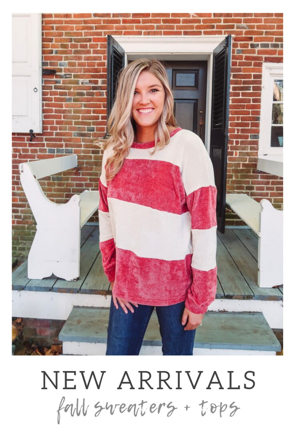 New Arrivals: Fall Sweaters and Tops