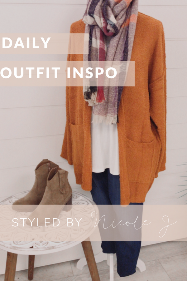 DAILY OUTFIT INSPO: COZY CARDIGAN