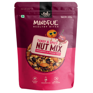 EAT Anytime Healthy Trail Mix Nuts, Cranberry and Orange Zest, 200g