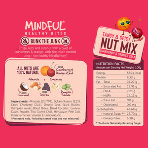 EAT Anytime Combo Pack of Cranberries & Orange Zest Trail Mix - Fig & Raisins Trail Mix, 400g