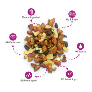 EAT Anytime Healthy Trail Mix with Nuts, Dry Fruits, Fig and Raisin, 200g