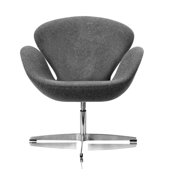 Replica Arne Jacobsen Swan Chair - Premium Grey Cashmere
