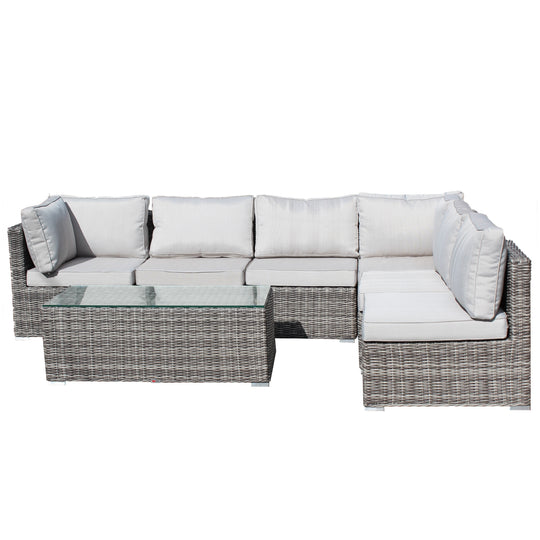 Large Outdoor Lounge Suite & Coffee Table
