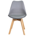 Oslo roxy Padded dining chair grey