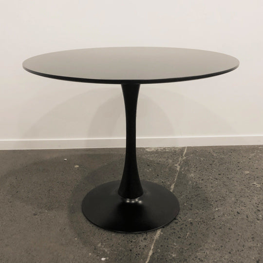 Tulip Dining Table 90cm black