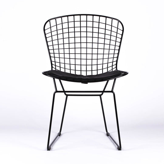 Replica Harry Bertoia Wire Side Chair - Black/Black