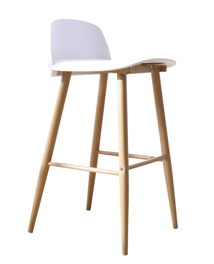 Nerd Boomer Bar Stool 76cm - White