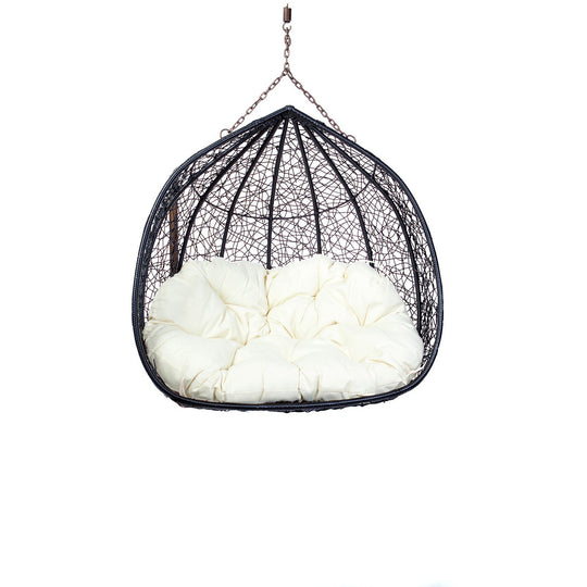 Double Hanging Egg Chair - Rattan Wicker front
