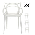 Philippe Starck Masters Chair Replica Package x 4 - White