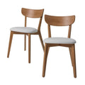 White Urban Padded Dining Chair x2