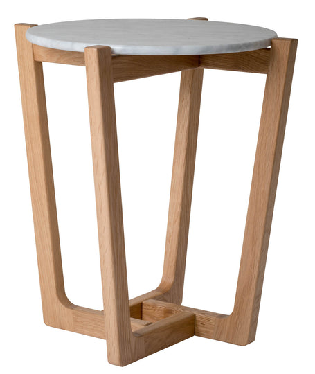 Marble Side Table Side - Natural