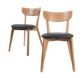 Black Urban Padded Dining Chair