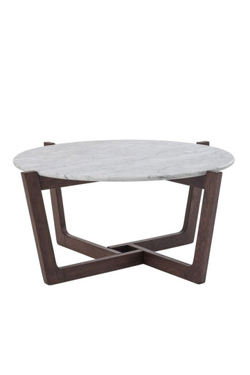Walnut Scandinavian Coffee Table - Marble