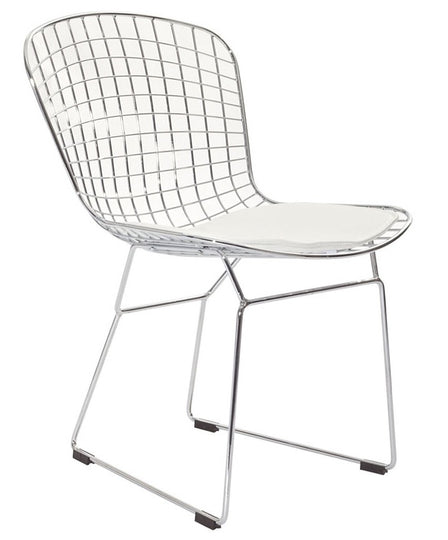 Harry Bertoia Wire Chair Front Side View