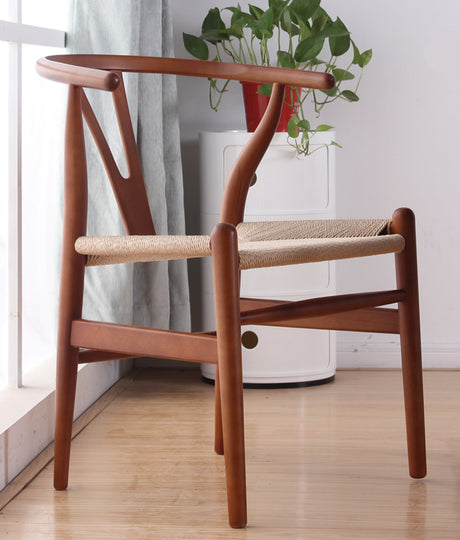 Wishbone Chair - Walnut and Natural Base