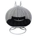 XL Hanging Egg Chair White and Black Simple