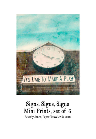 Art Prints -- Mini Art Prints -- Signs, Signs, Signs