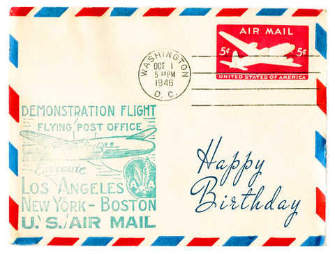 Birthday -- Air Mail Greetings