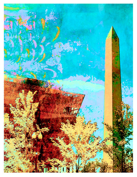 Blank -- National Museum of African American History & Culture + Washington Monument