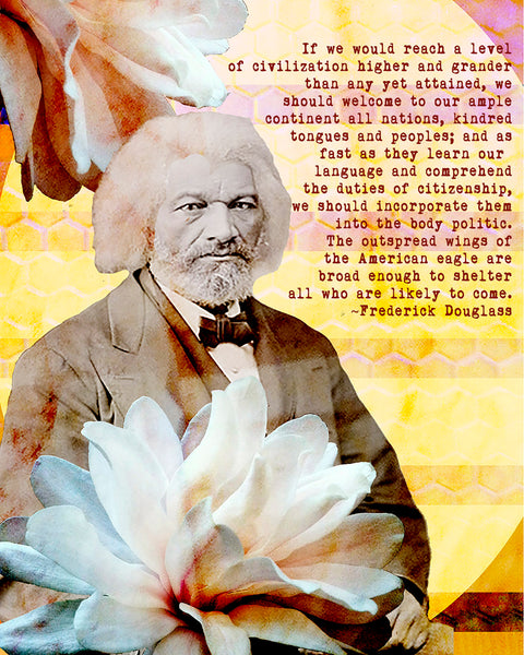 Art Prints -- Frederick Douglass Welcome All Nations