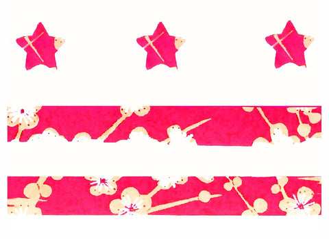 Blank -- DC Red Cherry Blossom Flag