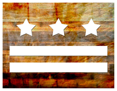 Boxed Notecards -- DC Wood Flag