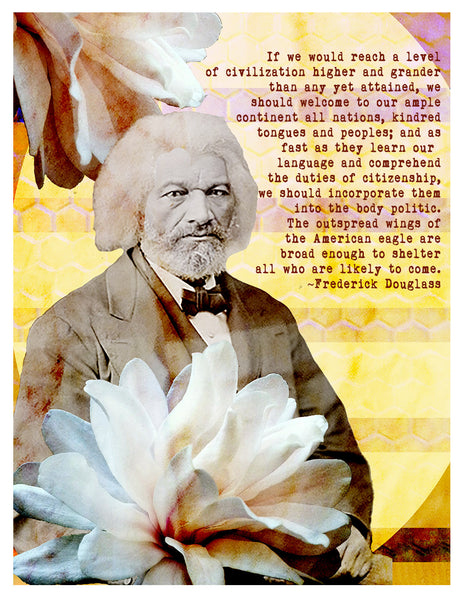 Photograph -- Frederick Douglass Welcome All Nations
