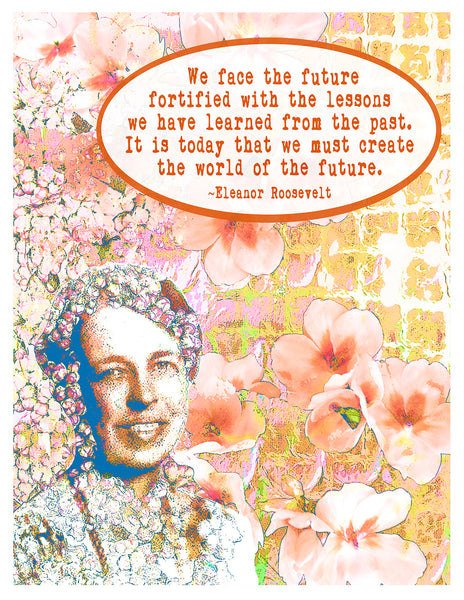 Photograph -- Eleanor Roosevelt Face the Future