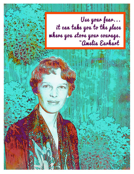 Boxed Notecards -- Amelia Earhart Use Your Fear