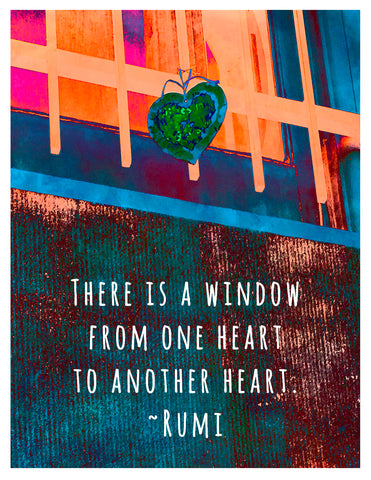 Love -- Rumi Window Heart