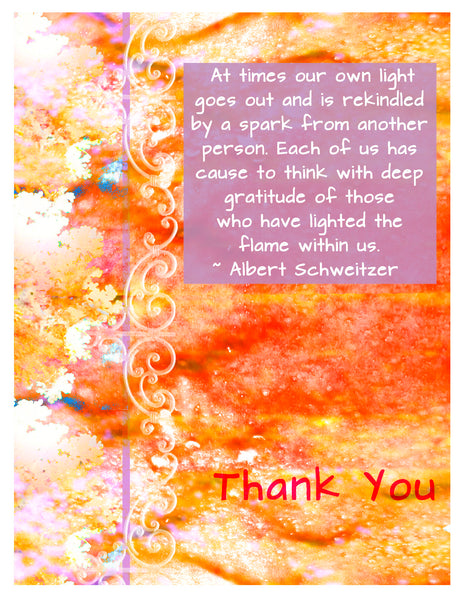 Thank You -- Schweitzer Thank You