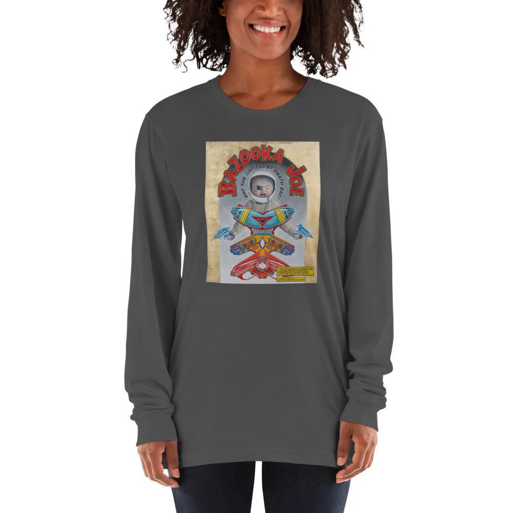 """Bazooka Joe and the Capitalist Death Ray"" by Martin Richens - American Apparel Long sleeve t-shirt - redrockartstudios"
