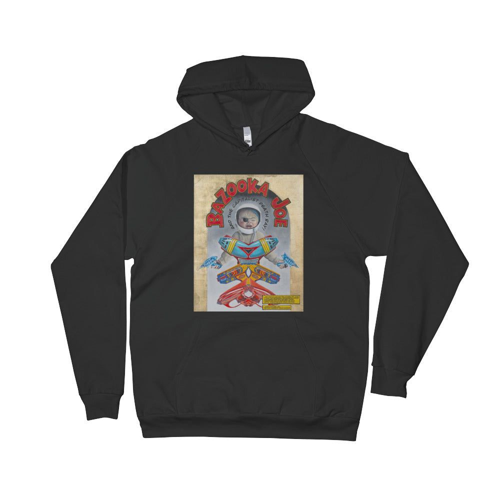 """Bazooka Joe and the Capitalist Death Ray"" by Martin Richens - American Apparel Unisex Fleece Hoodie - redrockartstudios"