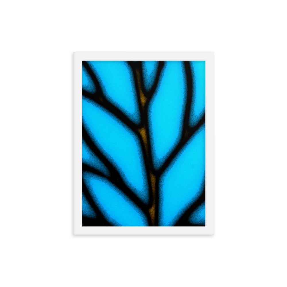 """Blue Leaf"" by Jan Simpson  - Framed Print - redrockartstudios"