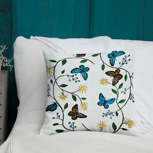 """Butterfly"" by Jan Simpson - Premium Pillow & Case - redrockartstudios"