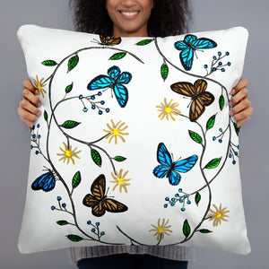 """Butterfly"" by Jan Simpson - Pillow & Case - redrockartstudios"