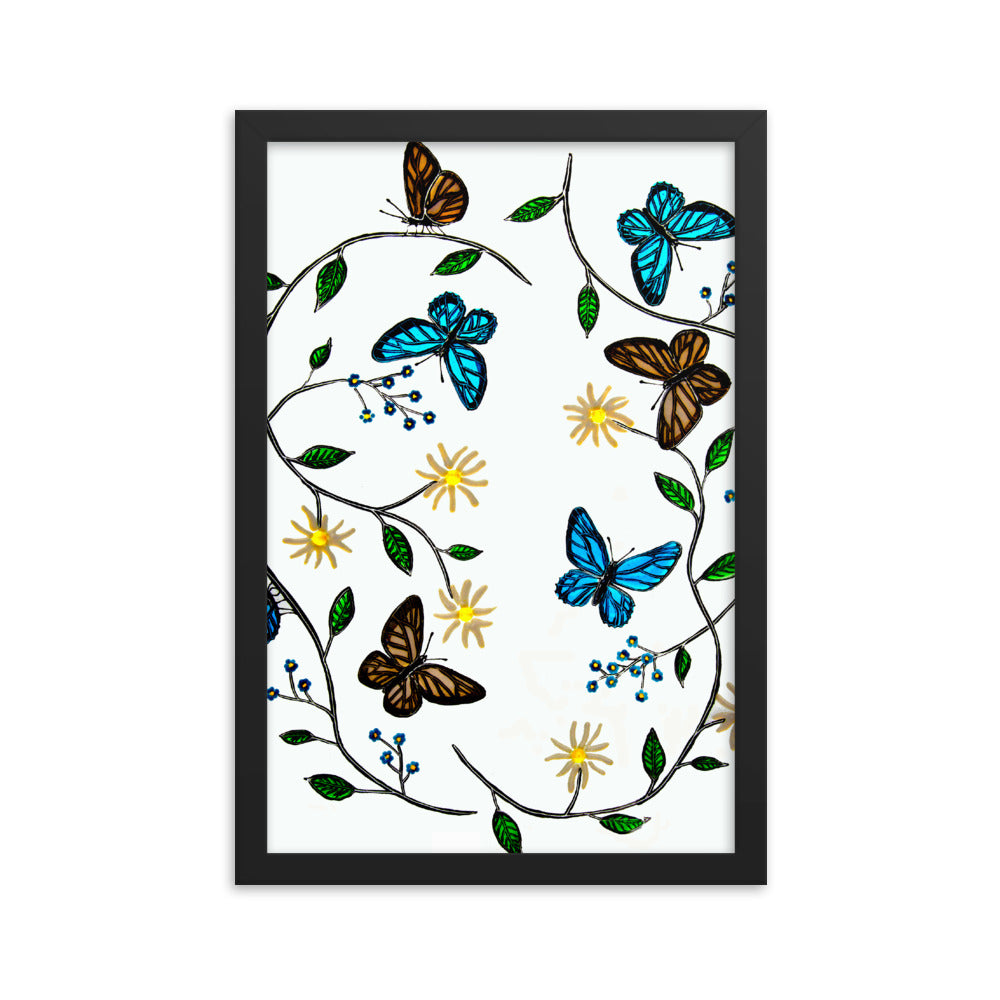 """Butterfly"" by Jan Simpson - Framed Print - redrockartstudios"