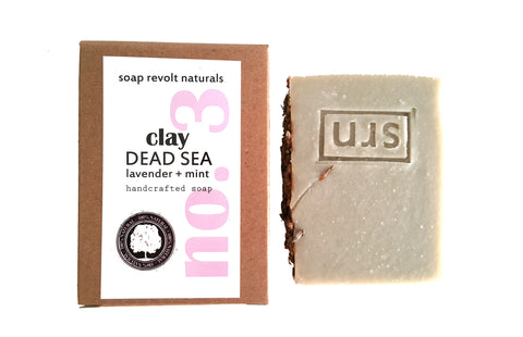 dead sea clay lavender mint soap facial