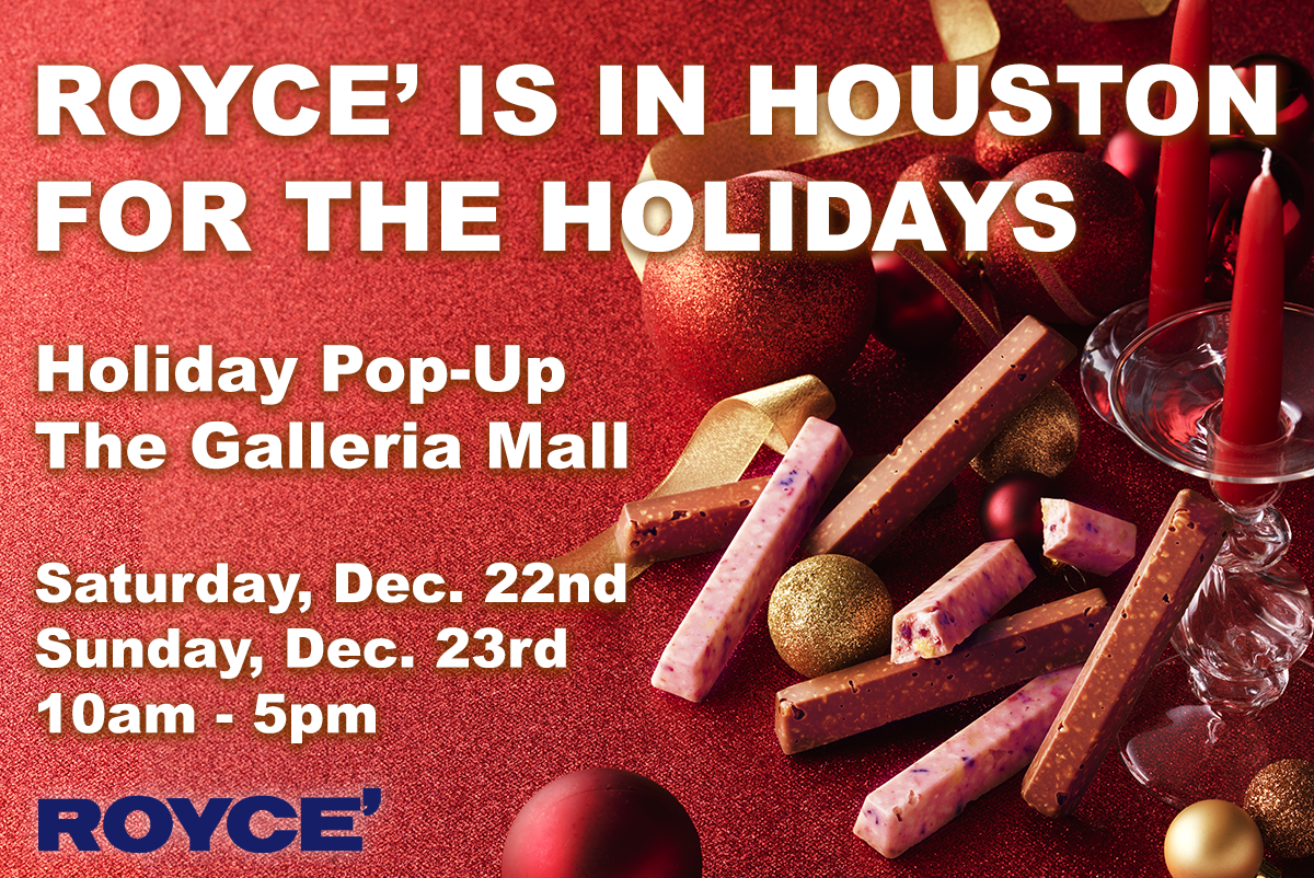 ROYCE' is in Houston for the Holidays! Shop our Houston Pop-Up on December 22nd & 23rd